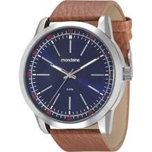 Relógio Mondaine Masculino Couro Azul 94985G0MVNH4