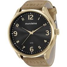 Relógio Mondaine Masculino Couro Marrom Preto 76622GPMVDH2