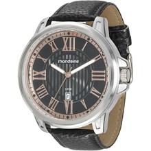 Relógio Mondaine Masculino Couro Preto Prata 76463G0MGNH1