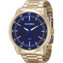 Relógio Mondaine Masculino Dourado Azul 94983GPMVDE2