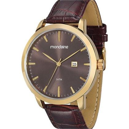 5d5b66cc508 Relógio Mondaine Masculino Dourado Marrom 83211GPMGDH3 - My Time