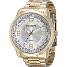 Relógio Mondaine Masculino Dourado Prata 94984GPMVDE2
