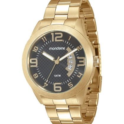 51d0cc82bd1 Relógio Mondaine Masculino Dourado Preto 78517GPMVDA3 - My Time