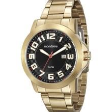 Relógio Mondaine Masculino Dourado Preto 94902GPMVDE2
