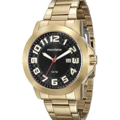 279c91d7ea3 Relógio Mondaine Masculino Dourado Preto 94902GPMVDE2 - My Time
