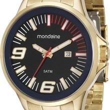 Relógio Mondaine Masculino Dourado Preto 94953GPMGDE3