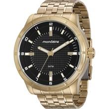 Relógio Mondaine Masculino Dourado Preto 99036GPMVDE1