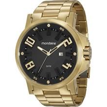 Relógio Mondaine Masculino Dourado Preto 99233GPMVDS1