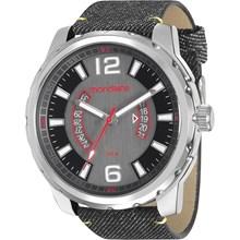 Relógio Mondaine Masculino Jeans Prata Preto 99090G0MVNH1