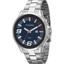 Relógio Mondaine Masculino Prata Azul 94953G0MGNE2