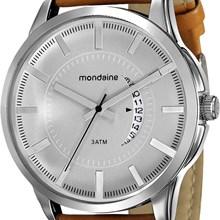 Relógio Mondaine Masculino Prata Marrom 76517G0MVNH1