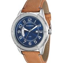 Relógio Mondaine Masculino Prata Marrom Azul 76543G0MGNH1