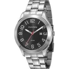 Relógio Mondaine Masculino Prata Preto 78419G0MBNA1