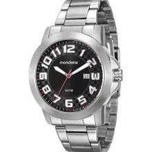 Relógio Mondaine Masculino Prata Preto 94902G0MVNE1