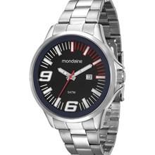 Relógio Mondaine Masculino Prata Preto 94953G0MGNE1