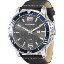 Relógio Mondaine Masculino Prata Preto Cinza 76527G0MGNH2
