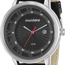 Relógio Mondaine Masculino Preto Prata 94792G0MVNH1