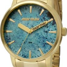 Relógio Mormaii Feminino Dourado Azul MO2036DW/4A