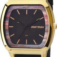 Relógio Mormaii Feminino Quadrado Dourado Preto MO2036AC/8P
