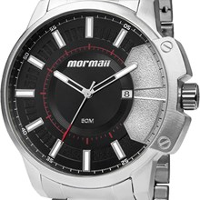Relógio Mormaii Masculino Prata Preto MO2315AAD/3P