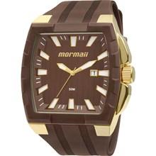 Relógio Mormaii Masculino Quadrado Dourado Marrom MO2115AD/8M