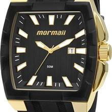 Relógio Mormaii Masculino Quadrado Dourado Preto MO2115AD/8P