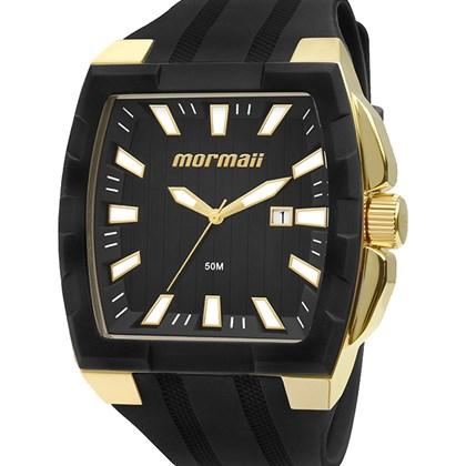 dc937ebf287 Relógio Mormaii Masculino Quadrado Dourado Preto MO2115AD 8P - My Time
