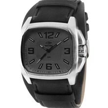 Relógio Mormaii Masculino Quadrado Prata Preto MO2035AT/3C