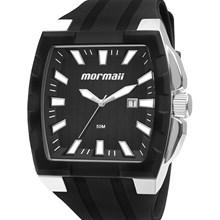 Relógio Mormaii Masculino Quadrado Prata Preto MO2115AE/8P