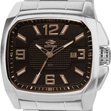 Relógio Mormaii Masculino Quadrado Prata Preto MO2315ZH/3P