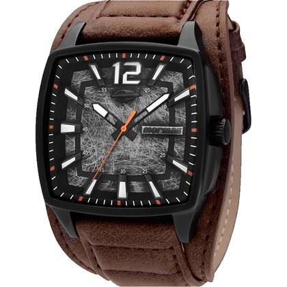 e6f37817f26 Relógio Mormaii Masculino Quadrado Preto Marrom MO197357 3M - My Time