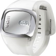 Relógio Odm Feminino Quadrado Branco Prata DD1008 BSBI