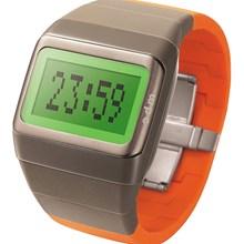 Relógio Odm Feminino Quadrado Cinza Verde Laranja SDD99B12 BXMO