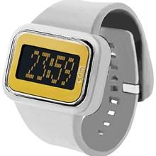 Relógio Odm Rainbow Feminino Quadrado Branco Dourado DD125A6 PYBX