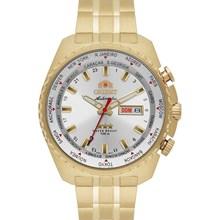 Relógio Orient Automático Masculino Dourado Branco 469GP057 S1KX
