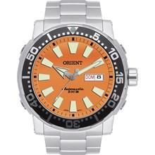 Relógio Orient Automático Masculino Kit Prata Laranja 469SS040 O1SX