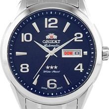 Relógio Orient Automático Masculino Prata Azul 469SS052 D2SX