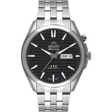 Relógio Orient Automático Masculino Prata Preto 469SS041 P1SX