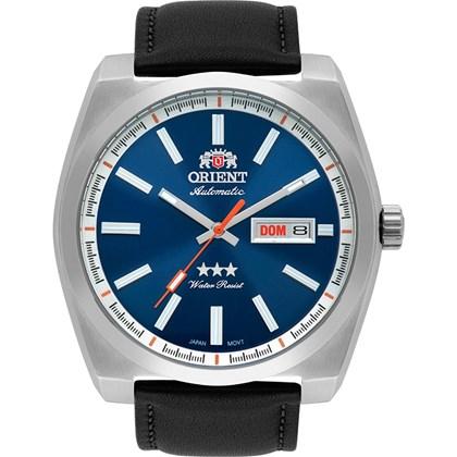 1f2bc7d5b94 Relógio Orient Masculino Automático Couro Prata Azul 469SS069 D1PX ...
