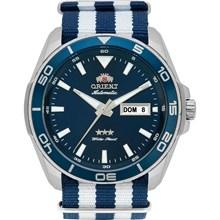Relógio Orient Masculino Automático Prata Azul 469SS064 D1BD