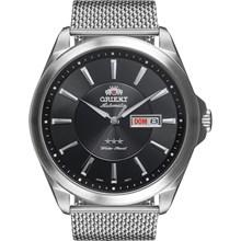 Relógio Orient Masculino Automático Prata Preto Esteira 469SS056 P1SX