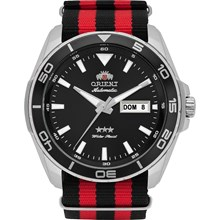 Relógio Orient Masculino Automático Prata Vermelho 469SS064 P1PV
