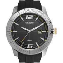 Relógio Orient Masculino Borracha Prata Preto MBSP1024 PYPX