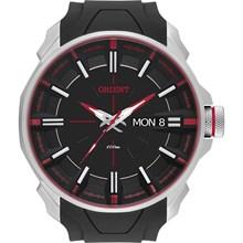 Relógio Orient Masculino Borracha Prata Preto MBSP2002 PVPX