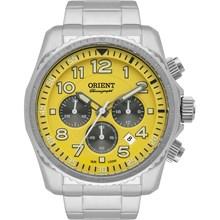 Relógio Orient Masculino Cronógrafo Amarelo MBSSC148 Y2SX