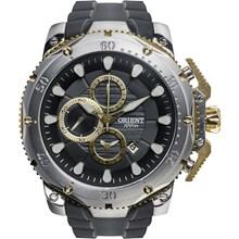 Relógio Orient Masculino Cronógrafo Borracha Misto Preto MTTPC001 P1PX
