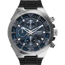 Relógio Orient Masculino Cronógrafo Borracha Prata Preto MBSPC034 P2PX