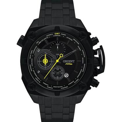 08b5a250987 Relógio Orient Masculino Cronógrafo Borracha Preto MYSSC001 G1GX ...