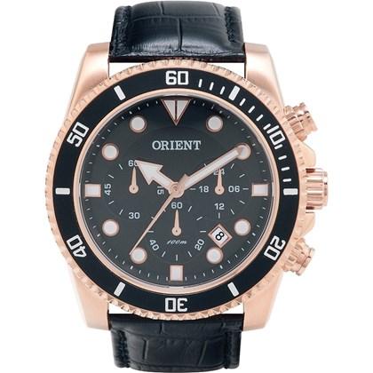 e34e5a040ce Relógio Orient Masculino Cronógrafo Couro Rose Preto MRSCC006 P1PX ...