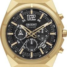 Relógio Orient Masculino Cronógrafo Dourado Preto MGSSC009 P2KX